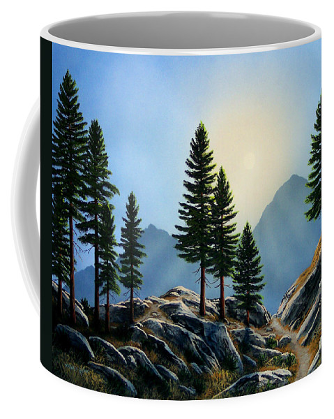 Landscape Coffee Mug featuring the painting Sierra Sentinals by Frank Wilson