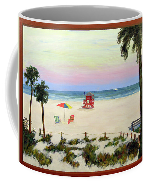 Siesta Key Beach Coffee Mug featuring the painting Siesta Key Beach Morning by Daniel Gale