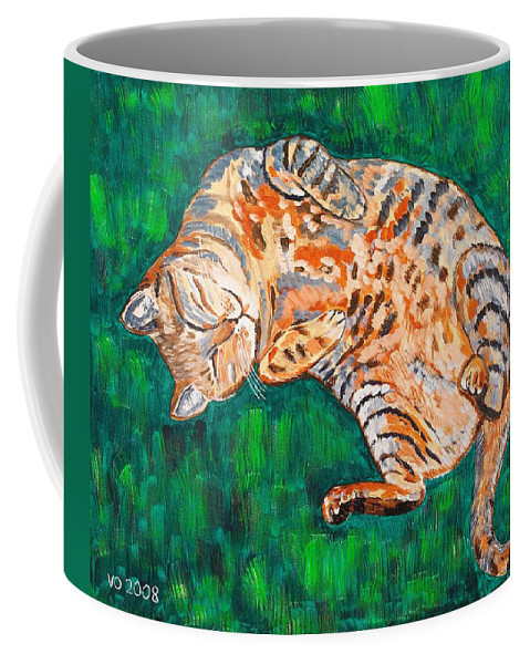 Siesta Coffee Mug featuring the painting Siesta by Valerie Ornstein