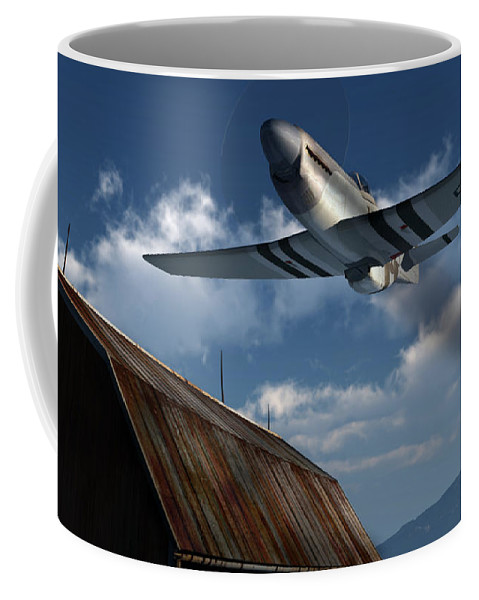 Aviation Coffee Mug featuring the digital art Sightseeing by Richard Rizzo