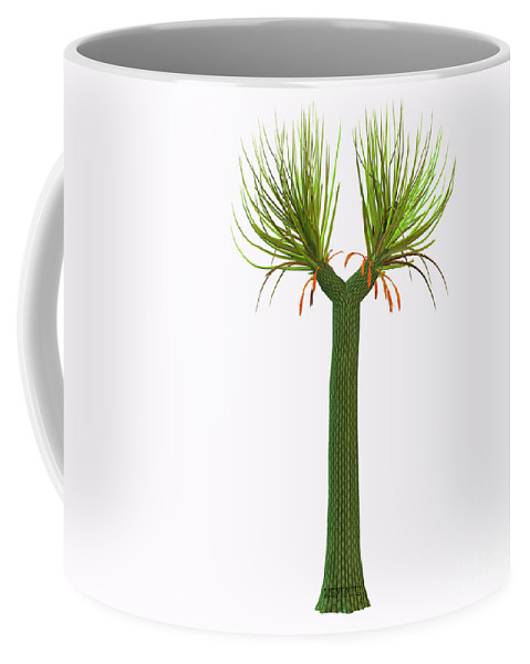 3d Illustration Coffee Mug featuring the painting Sigillaria Tree by Corey Ford
