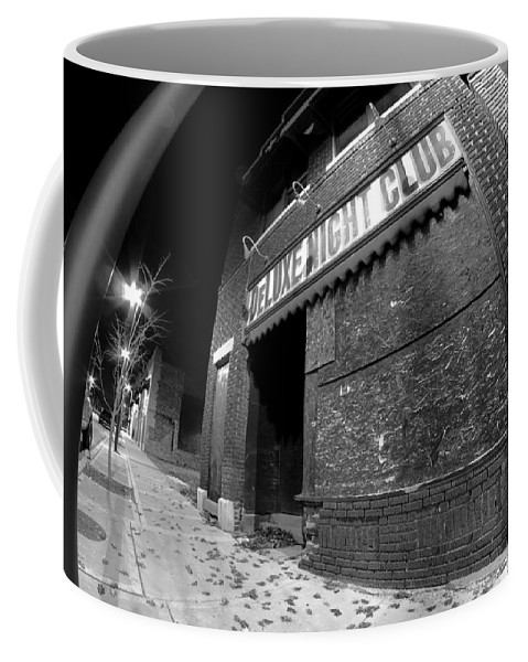 Urban Blight Coffee Mug featuring the photograph Sign Of The Times by Sven Brogren
