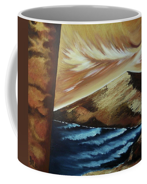 Coffee Mug featuring the painting Sign of Truth by Ara Elena