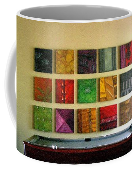 Family Coffee Mug featuring the mixed media Signature Set by Marlene Burns
