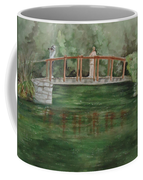 The Springs Makes Our Hearts Sing After Winter. Landscape Coffee Mug featuring the painting Signs Of Spring by Charme Curtin