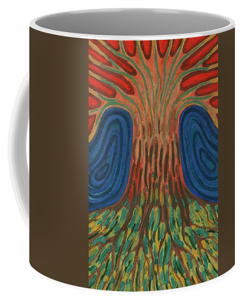 Colour Coffee Mug featuring the painting Silence Of Night by Wojtek Kowalski