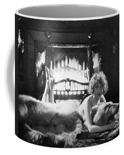 -women Single Figures- Coffee Mug featuring the photograph Silent Film Still: Woman by Granger