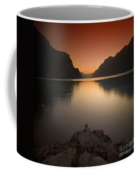 Brienz Coffee Mug featuring the photograph Silent Lake by Angel Ciesniarska