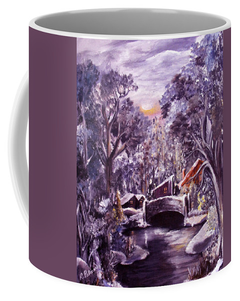 Landscape Coffee Mug featuring the painting Silent Night by Ruth Palmer