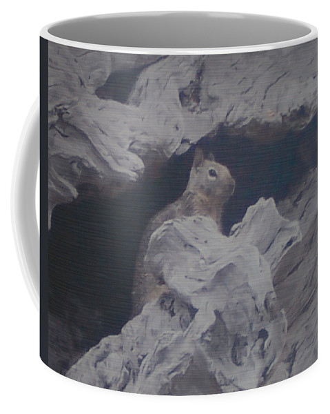 Squirrel Coffee Mug featuring the photograph Silent Observer by Pharris Art