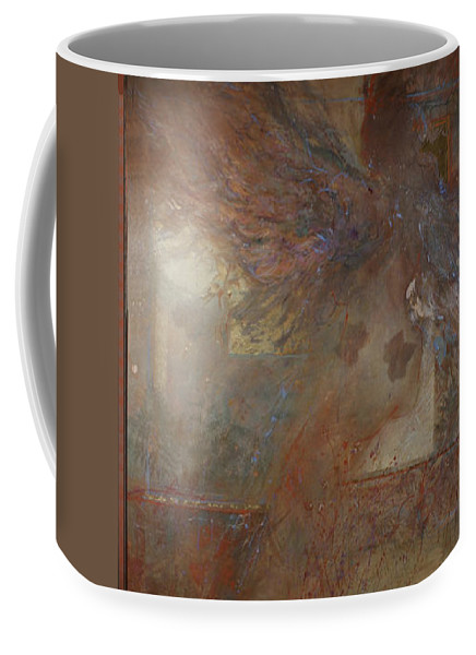 Abstract Coffee Mug featuring the painting Silent Prayers by Betty Jean Billups
