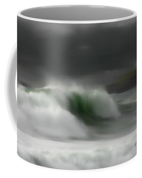 Ocean Coffee Mug featuring the photograph Silent Rush by Donna Blackhall