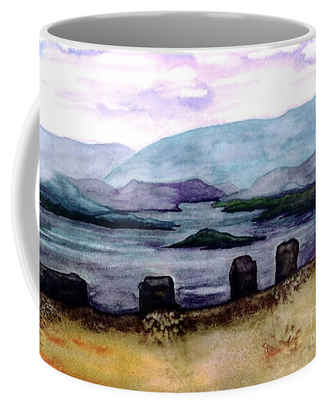 Original Painting Coffee Mug featuring the painting Silent Sentinels by Patricia Griffin Brett