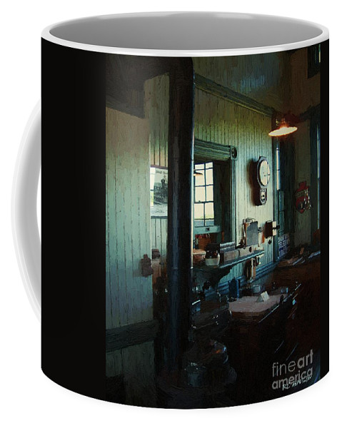 Antiques Coffee Mug featuring the painting Silent Station by RC DeWinter