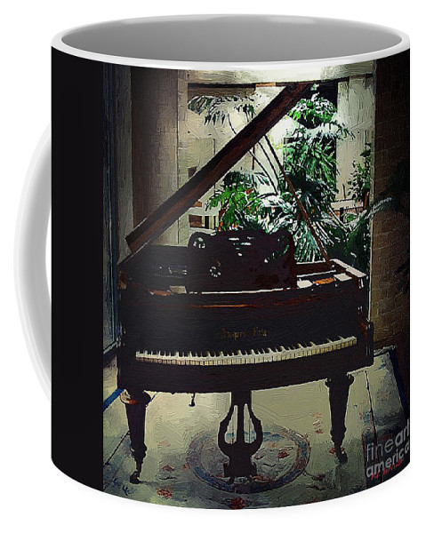 Baby Grand Coffee Mug featuring the painting Silent Symphony by RC DeWinter