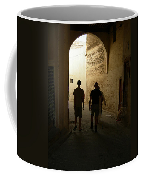 Silhouette Coffee Mug featuring the photograph Silhouettes In Fez by Fay Lawrence
