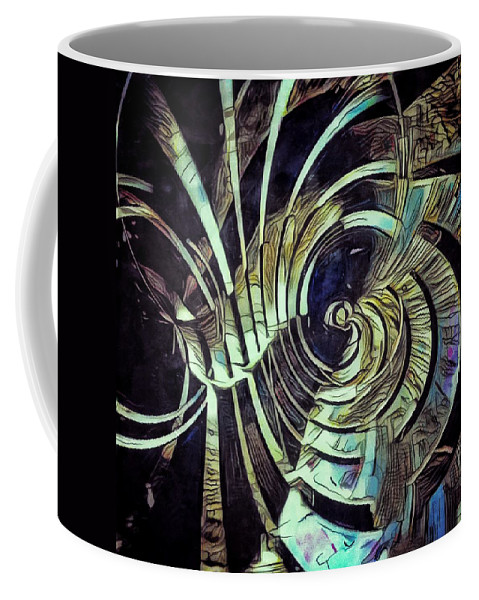 Abstract Coffee Mug featuring the painting Silicon - Endless by Philip Openshaw