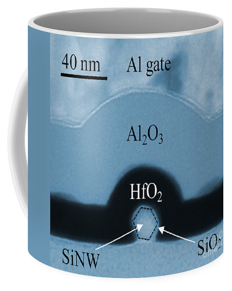 Science Coffee Mug featuring the photograph Silicon Nanowire, Tem by Bonevich/NIST