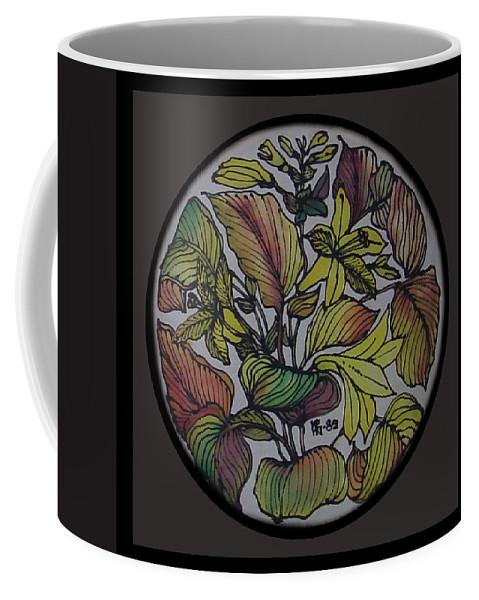 Silk Coffee Mug featuring the painting Silk Leaves by Shirley Heyn