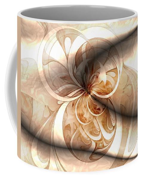 Digital Art Coffee Mug featuring the digital art Silk by Amanda Moore
