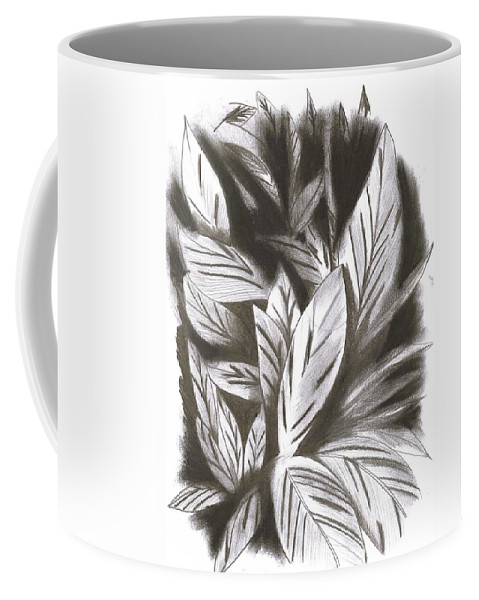 Graphite Coffee Mug featuring the drawing Silky by Calix Laboy Feliciano