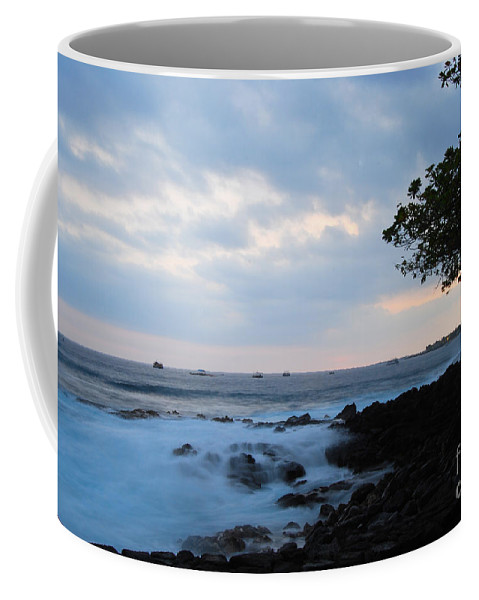 Nature Coffee Mug featuring the photograph Silky Waves At Dusk by Paulette B Wright