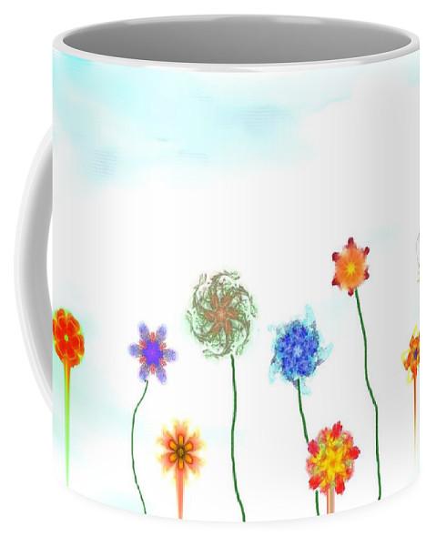 Fantasy Coffee Mug featuring the digital art Silly Fractal Garden by David Lane