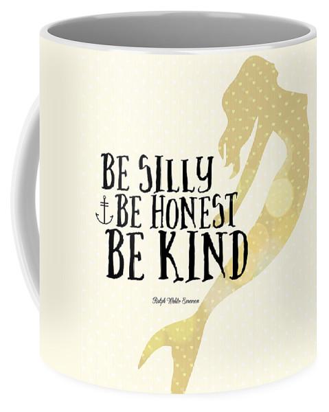 Brandi Fitzgerald Coffee Mug featuring the digital art Silly Honest Kind Mermaid V4 by Brandi Fitzgerald