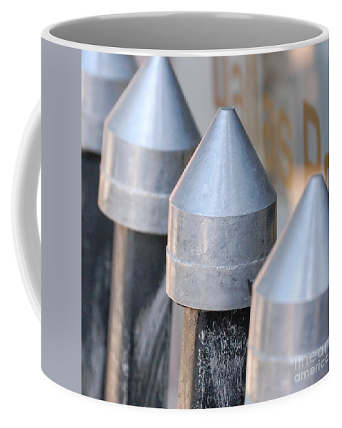 Gate Coffee Mug featuring the photograph Silver Bullets by Debbi Granruth