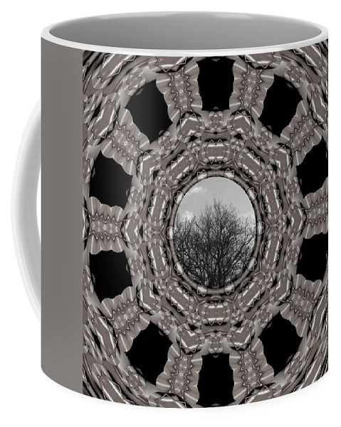 Tree Coffee Mug featuring the mixed media Silver Idyl by Pepita Selles