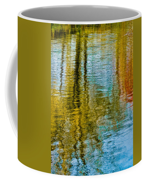 Silver Coffee Mug featuring the photograph Silver Lake Autum Tree Reflections by Michael Bessler