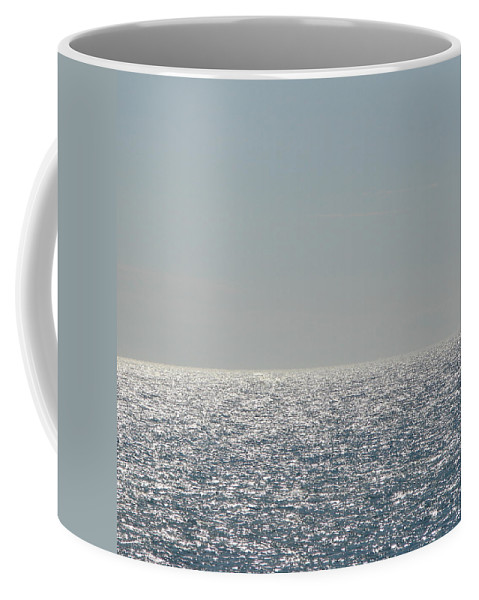 Blue Coffee Mug featuring the photograph Silver Light On Lake Michigan by Michelle Calkins