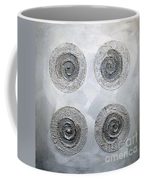 Sets Coffee Mug featuring the mixed media Silver Lining Series Number Three by Marlene Burns