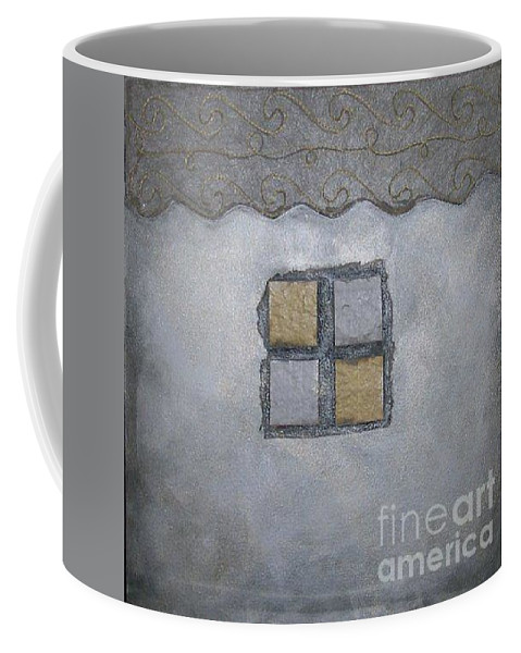 Sets Coffee Mug featuring the mixed media Silver Lining Series Number Two by Marlene Burns