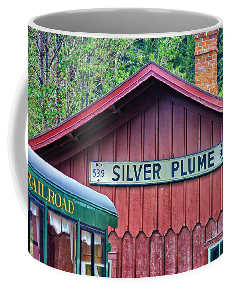 Building Coffee Mug featuring the photograph Silver Plume Station by Brian Kerls