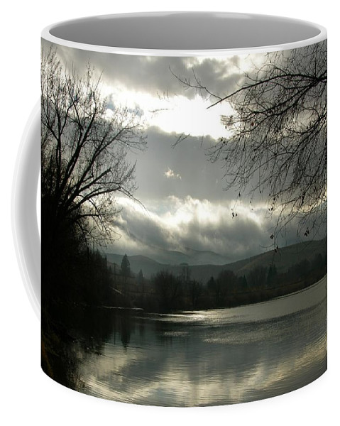Prosser Coffee Mug featuring the photograph Silver River by Carol Groenen
