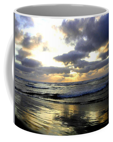 Sunset Coffee Mug featuring the photograph Silver Shores by Will Borden