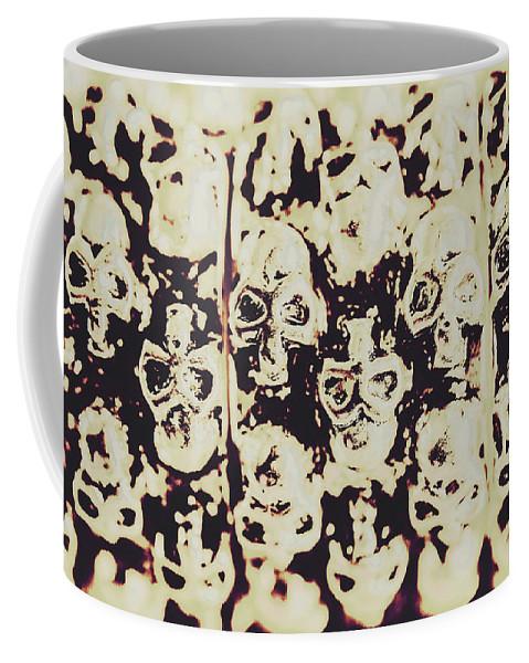 Halloween Coffee Mug featuring the photograph Silver Skull Art by Jorgo Photography - Wall Art Gallery