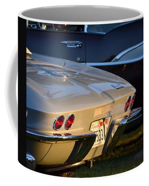 Coffee Mug featuring the photograph Silver Vette by Dean Ferreira