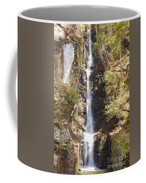 Water Coffee Mug featuring the photograph Silverthread Falls by Paul Fell