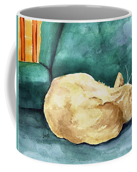 Cat Coffee Mug featuring the painting Simba by Sam Sidders