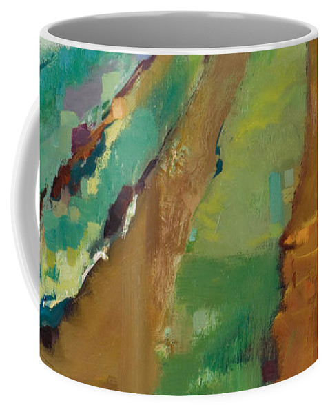 Impressionistic Landscape Coffee Mug featuring the painting Simple Fields by Michele Norris