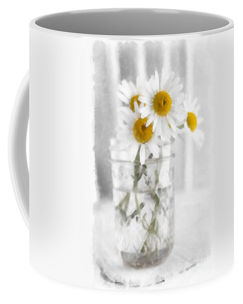 Daisy Coffee Mug featuring the photograph Simple Flowers by Edward Fielding
