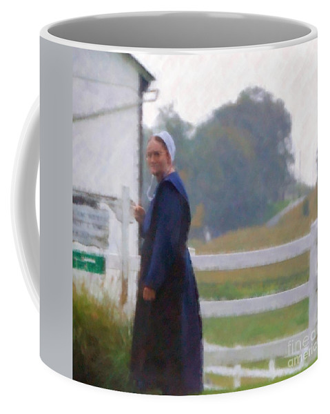 Amish Coffee Mug featuring the photograph Simple Living by Debbi Granruth