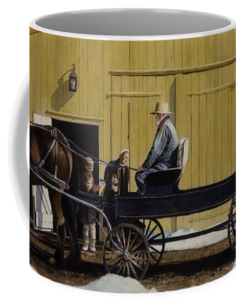 Landscape Coffee Mug featuring the painting Simple Pleasures by Denny Bond