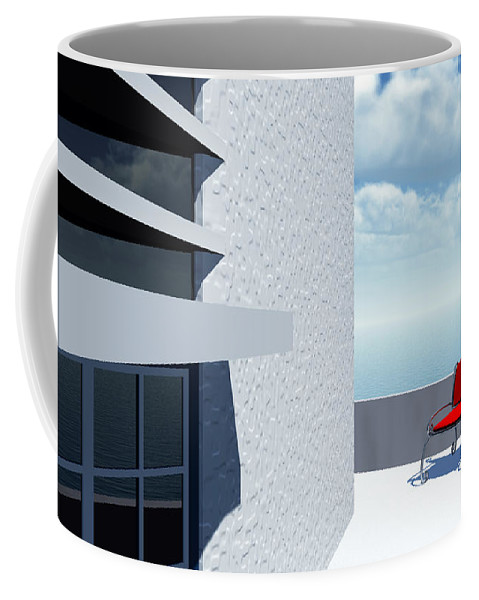 Contemporary Coffee Mug featuring the digital art Simple Pleasures by Richard Rizzo