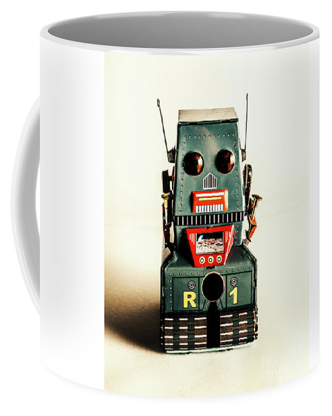 1960 Coffee Mug featuring the photograph Simple Robot From 1960 by Jorgo Photography - Wall Art Gallery