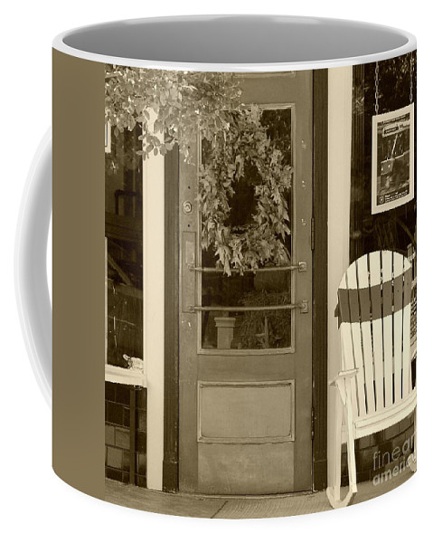Rocking Chair Coffee Mug featuring the photograph Simple Times by Debbi Granruth