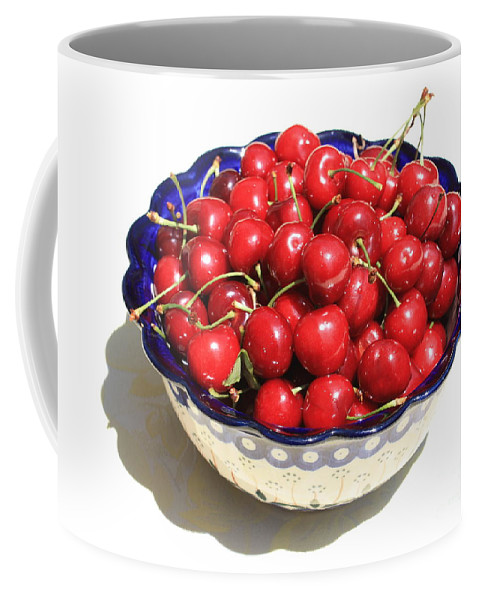 Cherries Coffee Mug featuring the photograph Simply A Bowl Of Cherries by Carol Groenen