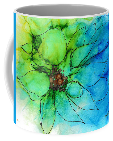 Abstract Coffee Mug featuring the painting Simply Floral by Louise Adams